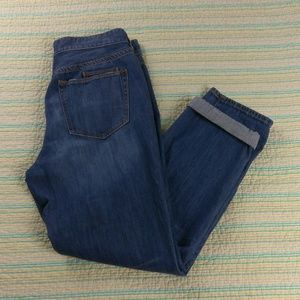 J. Crew 27 Distressed Ontario Blue Boyfriend Jeans